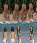 Amanda Bynes blue bikini gallery