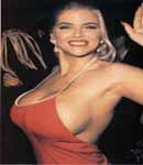 anna nicole smith red dress