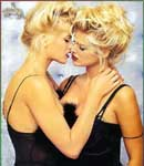 Anna Nicole Smith with hot female friend