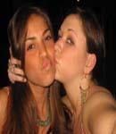 Antonella Barba kissing girl