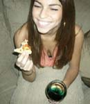 Antonella Barba eating