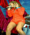 Beyonce Knowles all in red