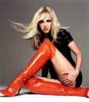 Britney Spears hot high heels red boots