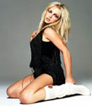 Britney Spears white high heel boots