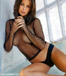 Awesome Brook Burke fishnet top