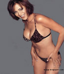 Sweet Catherine Bell lepoard bikini