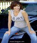 Catherine Bell tight army t-shirt