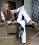 Elle Macpherson white pants