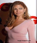 Eva Mendes tight pink dress