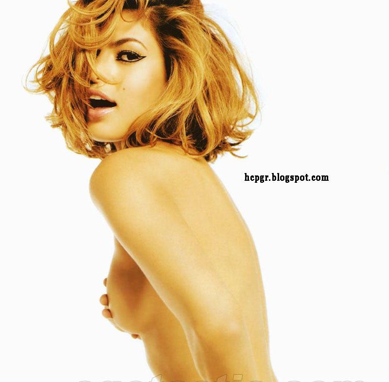 Eva Mendes covering herself
