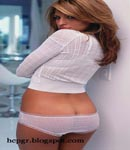 Eva Mendes white undies