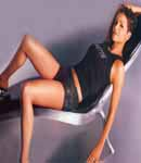 Halle Berry laying back