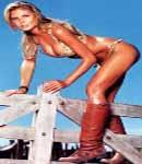 Victoria's Secret model heidi Klum in cowboy boots