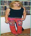 Hilary Duff von dutch leather pants