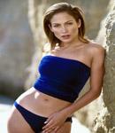 Jennifer Lopez tube top, bikini bottom