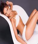 Jennifer Lopez on a chair