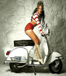 Jennifer Lopez vespa and hot pants