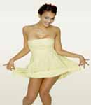 Jessica Alba cute yellow dress