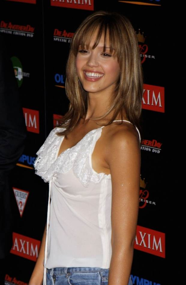 Jessica Alba on fire