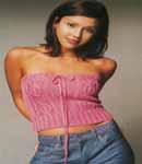 Jessica Alba pink top