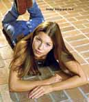 Jessica Biel laying on floor