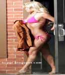 Jessica Simpson pink bikini