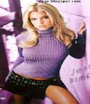 Jessica Simpson leather skirt