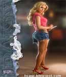 Jessica Simpson Daisy Dukes and high heels