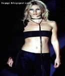 Kate Moss showing the belly