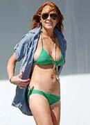 Lindsay Lohan on the beach
