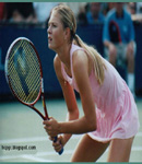 Maria Sharapova showing legs on during tennis match