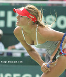 Maria Sharapova tennis court racquet