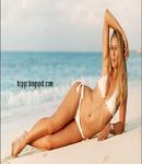 Maria Sharapova white bikini