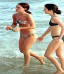 Natalie Portman black bikini