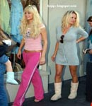 Paris Hilton and Pamela Anderson shop