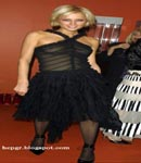 Paris Hilton black dress