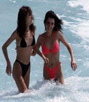 Penelope Cruz & friend at beach