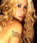Shakira laundry service tattoo.