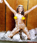 Shannon Elizabeth covered in whipped cream