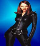 Uma Thurman in leather