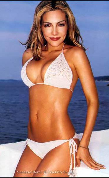 Vanessa Marcil bikini beach