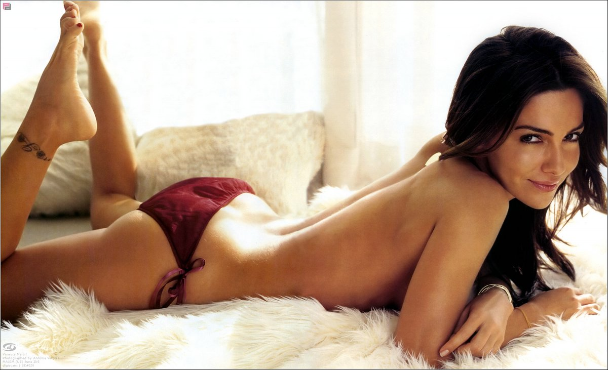 Vanessa Marcil in bed