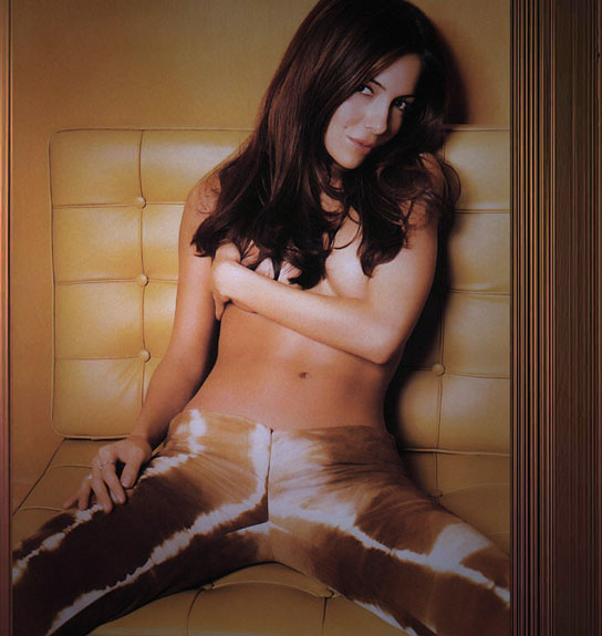 Vanessa Marcil showing tubes