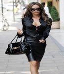 Victoria Beckham black leather