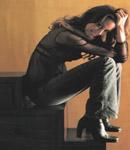 Anne Hathaway fishnet top, high heels