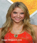 Ashley Benson red dress