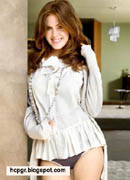Isla Fisher shirt & panties