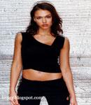 Jessica Alba poses black