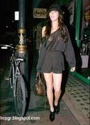 Lindsay Lohan hat & high heels