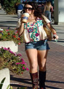 Lindsay Lohan cowboy boots